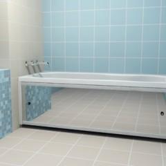 Зеркальный экран в ванную