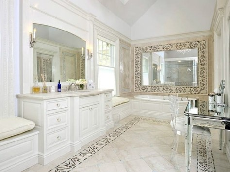 Extravagant Master Bathroom Tile Flooring Traditional Style Home