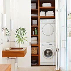 Laundry room in bathroom ideas