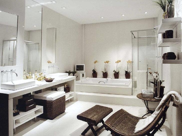 Особенности оформления ванной комнаты в стиле модерн (40 фото)