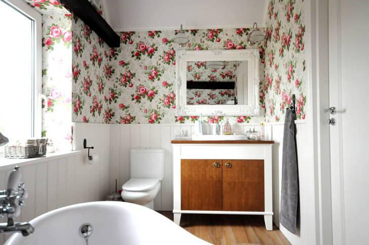 Ванная комната в стиле кантри: как создать домашний уют (65 фото)