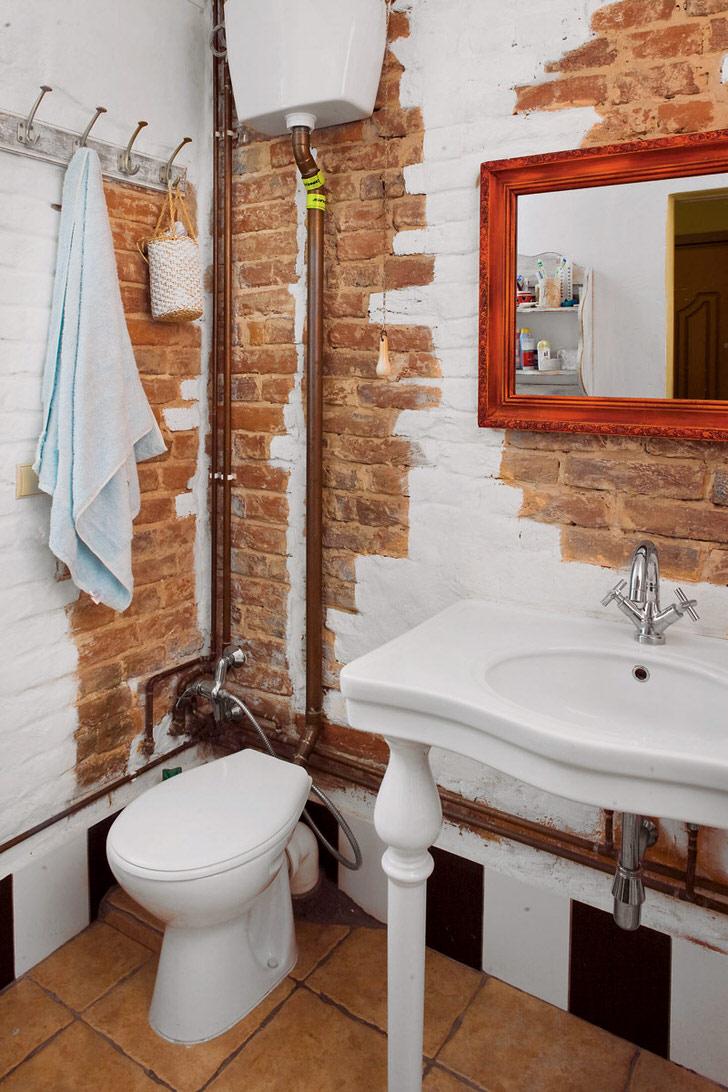 Труба в туалете дизайн