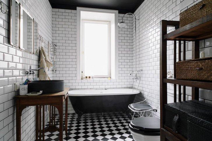 Ванная комната в стиле лофт: особенности оформления помещения (68 фото)