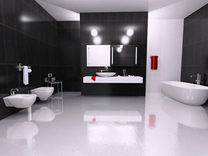 Основные черты ванной комнаты в стиле минимализм (54 фото)