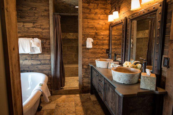 Как обустроить ванну в деревянном доме (60 фото)