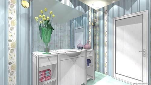 Цветочки в ванной