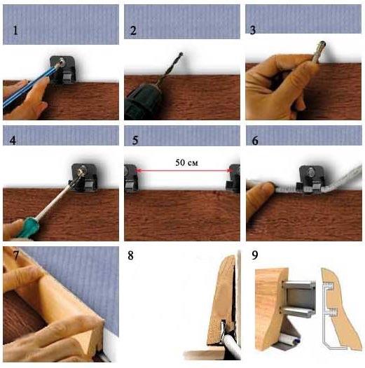 Инструкция по установке плинтуса