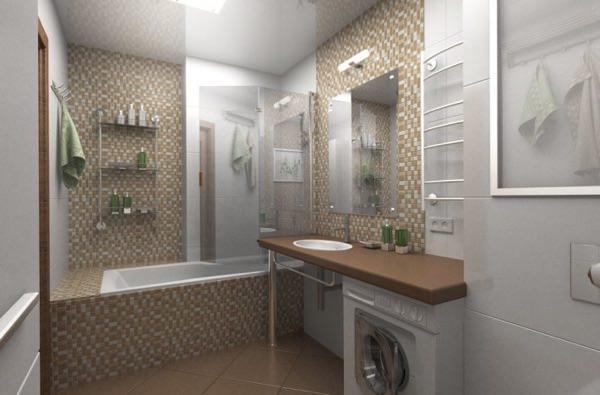 Дизайн ванны без туалета 5 кв.м фото