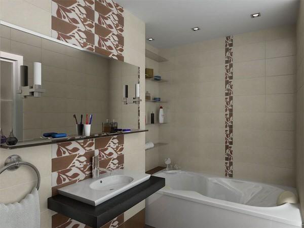 Дизайн плитки ванной комнаты 4 кв м без туалета 81