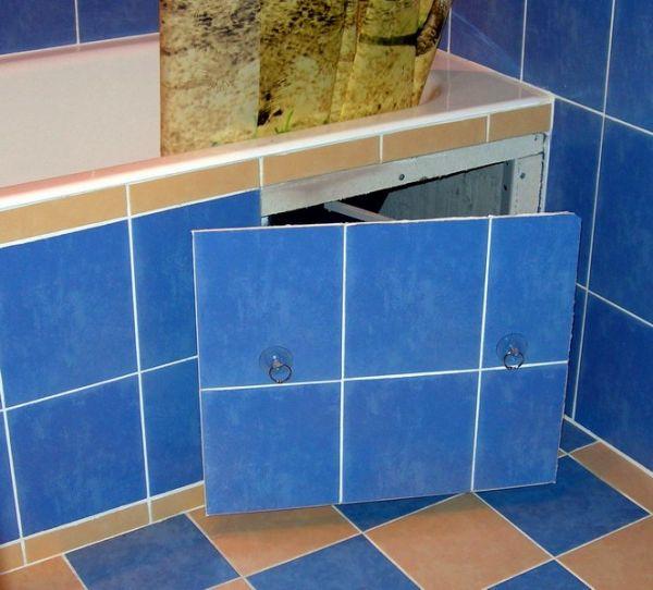 люк невидимка под ванну