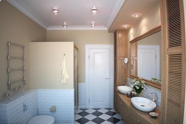 Дизайн освещения ванной комнаты