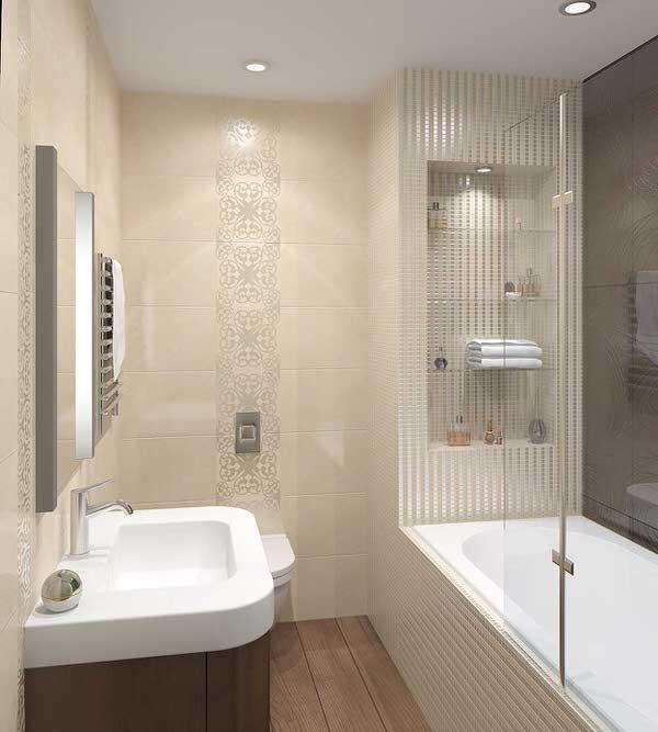 Дизайн ванны светлой