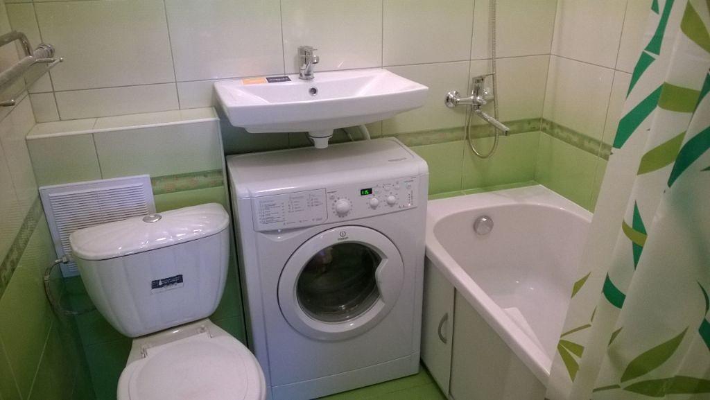 Совмещенный санузел дизайн фото со стиральной машиной