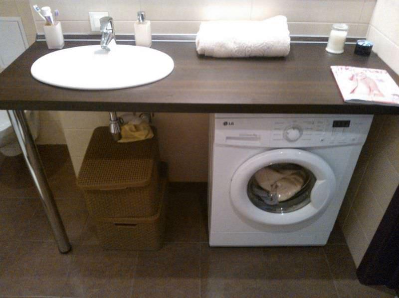 Как встроить раковину в столешницу в ванной своими руками 78