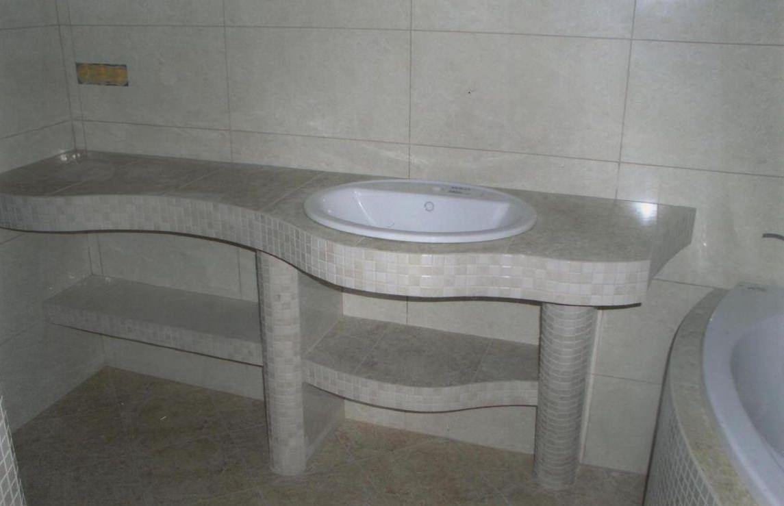 Умывальник в ванной своими руками фото