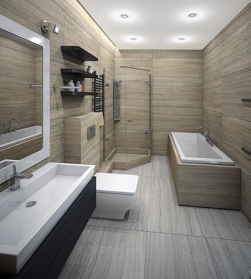 Дизайн ванны в стиле минимализма