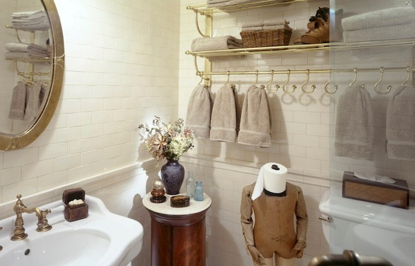 Полотенцедержатель для ванной комнаты: украшение или необходимость: видео, 46 фото