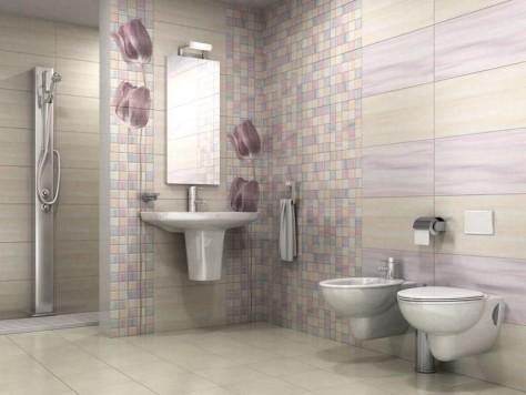 Особенности отделки ванной комнаты плиткой: видео укладки, 48 фото вариантов дизайна