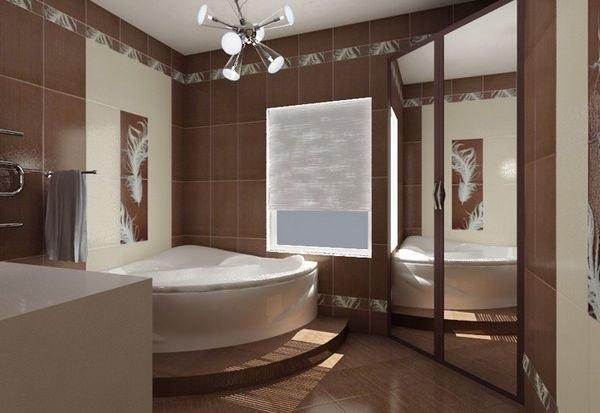 Ванные комнаты дизайн фото с угловой ванной